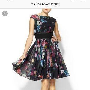 Ted Baker Floral Dress Fits Like Size 8/10